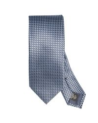 Ermenegildo Zegna | Blue Woven Silk Tie for Men | Lyst