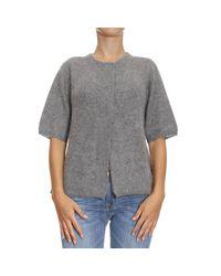 Emporio Armani   Gray Sweater Woman   Lyst
