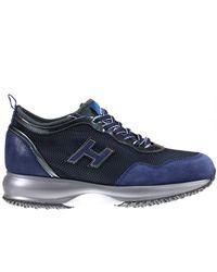 Hogan   Blue Sneakers Shoes Woman   Lyst