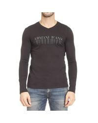 Armani Jeans | Black T-shirt Man for Men | Lyst