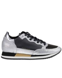 Philippe Model   Metallic Sneakers Shoes Woman   Lyst