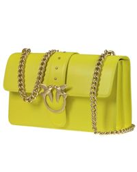 Pinko - Yellow Clutch Handbag Women - Lyst