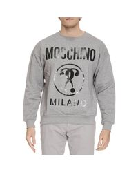 Moschino | Gray Sweater Men for Men | Lyst