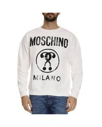 Moschino | White Sweater Men for Men | Lyst