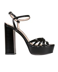 Pinko | Black Heeled Sandals Shoes Women | Lyst