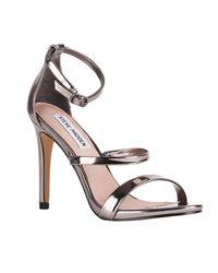 Steve Madden - Metallic Heeled Sandals Women - Lyst