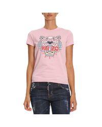 KENZO - Pink T-shirt Women - Lyst