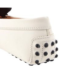 Tod's - White Loafers Women - Lyst