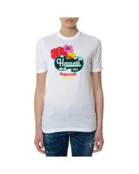DSquared² - White T-shirt Women - Lyst
