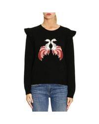 Pinko - Black Sweater Women - Lyst