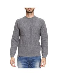 Emporio Armani - Gray Sweater Men for Men - Lyst