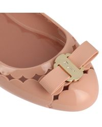 Ferragamo - Pink Ballet Flats Shoes Women - Lyst