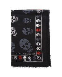 Alexander McQueen - Black Neck Scarf Men for Men - Lyst