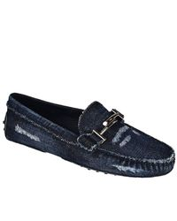 Tod's - Blue Loafers Women - Lyst