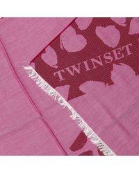 Twin Set - Red Scarf Women - Lyst