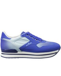 Hogan | Blue Broguing Detail Sneakers | Lyst
