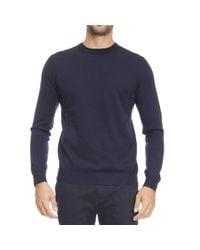 Aquascutum - Blue Sweater Man for Men - Lyst