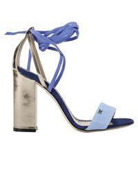 Elisabetta Franchi | Blue Heeled Sandals Shoes Women | Lyst
