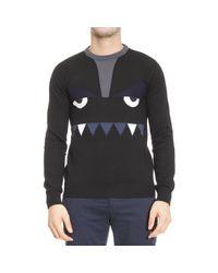 Fendi - Black Sweater Man Bugs for Men - Lyst