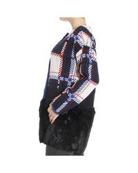 Armani Jeans - Black Faux-Fur Cape - Lyst