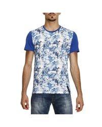 Jeckerson | Blue T-shirt Men for Men | Lyst