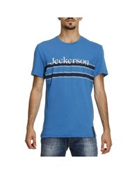 Jeckerson | Blue T-shirt Men for Men | Lyst