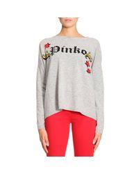 Pinko - Gray Sweater Women - Lyst
