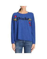 Pinko - Blue Sweater Women - Lyst