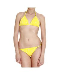 Polo Ralph Lauren - Yellow Women's Swimsuit - Lyst