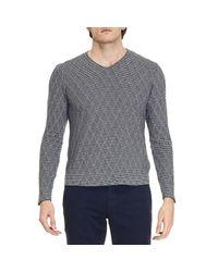 Giorgio Armani | Blue Sweater Men for Men | Lyst