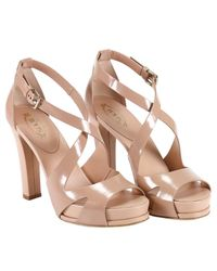 Tod's - Pink Heeled Sandals Shoes Women - Lyst