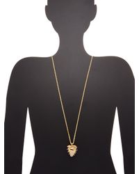 Kenneth Jay Lane - Metallic Gold & Silver Strawberry Pendant Necklace - Lyst