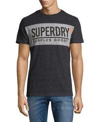 Superdry - Black Surplus Goods Cotton Tee for Men - Lyst