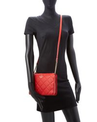 Kate Spade - Red Emerson Place Harbor Quilted Leather Crossbody - Lyst