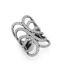 Noir Jewelry   Black Crystal Ring   Lyst