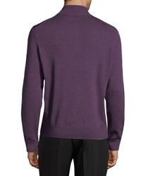 Thomas Dean - Purple Half-zip Sweater for Men - Lyst