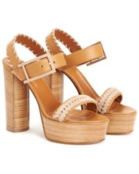 Aquatalia - Brown Isabella Waterproof Leather Sandal - Lyst