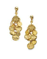 Kenneth Jay Lane | Metallic Coin Cluster Drop Earrings | Lyst