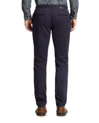 J.Lindeberg - Blue Chaze Slim-fit Cotton Trousers for Men - Lyst