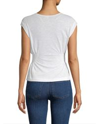 Free People White May Knit Top