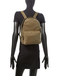 Valentino - Rockstud Medium Leather Backpack - Green - Lyst