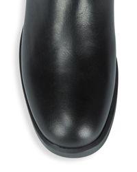 Aquatalia - Black Lauryn Leather Calf Boots - Lyst