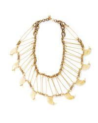 Lulu Frost | Metallic Cleo Statement Necklace | Lyst
