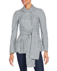 Proenza Schouler - Gray Waist Tie Sweater Jacket - Lyst