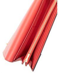 Céline - Red Leather Flap Wallet - Lyst