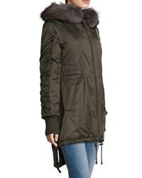 10 Crosby Derek Lam - Green Parka Coat - Lyst