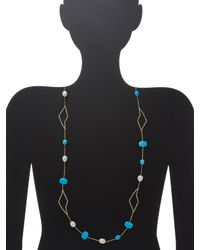 Alexis Bittar - Multicolor Elements Encrusted Abstract Petal Station Necklace - Lyst