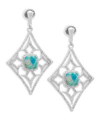 Armenta - Multicolor New World Gemstone & Diamond Large Cut-out Drop Earrings - Lyst
