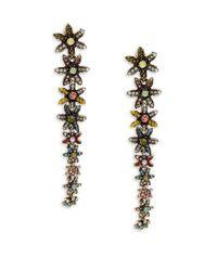 Cara - Multicolor Daisy Linear Earrings - Lyst