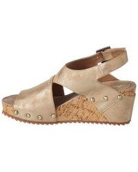 Antelope - Metallic 585 Leather Wedge Sandal - Lyst